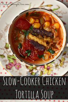 Slow-Cooker Chicken Tortilla Soup Recipe
