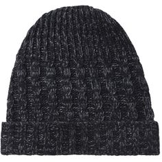 Hope Winter Hat ($85) ❤ liked on Polyvore featuring accessories, hats, beanies, hair, black melange, chunky knit hat, knit ski cap, beanie cap, knit beanie caps and knit hat