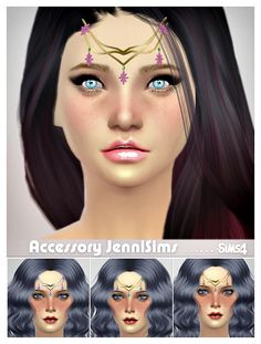 Jennisims: Downloads sims 4: New Mesh Accessory Hair Tiara Male /Female (2designs)