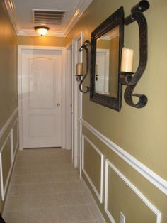 long hallway decorating ideas | Hallway redo, This was your typical boring long white hallway about 48 ... #Narrowhallwaydecorating #hallwayideassmall #hallwayideaslong