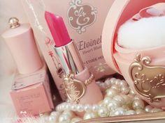 Girly pink makeup