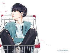 """Jungkook-""""Run"""" fanart (not mine) Jungkook Fanart, Kpop Fanart, Kookie Bts, Bts Bangtan Boy, Bts Jungkook, Saranghae, Fan Art, Kawaii, Bts Chibi"""