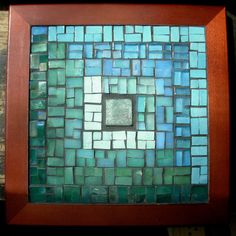 Log Cabin Quilt Mosaic Trivet in Blue Green by nutmegdesigns Mosaic Art, Mosaic Tiles, Mosaic Patterns, Quilt Patterns, Handmade Crafts, Diy And Crafts, Beach Invitations, Log Cabin Quilts, Diy Frame