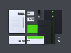 Salvail & Co Branding Identity | Black and neon green