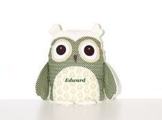 #christmas #decoration #holiday #gift #owl #pillow Holiday Pllow by Customquiltsbyeva on Etsy