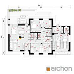 projekt Dom w alwach 2 rzut parteru Duplex Plans, Sweet Home, Floor Plans, How To Plan, Houses, Architectural House Plans, Architecture, My Dream House, Floor Layout