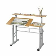 Amazon.com - Safco Height-Adjustable Split Level Drafting Table -