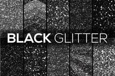 Black Glitter Textur