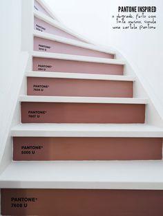Pantone stairs #steps #decor #pink
