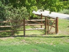 Add some country charm to your property with a post and rail fence. This quaint enclosure offers stability, while the subtle wire adds further security. A gate means there's no need for fence-hopping!