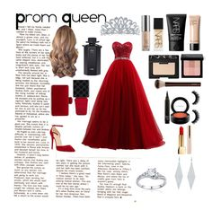 """""""Prom Queen"""" by kawaiiemm1o1 ❤ liked on Polyvore featuring Christian Louboutin, Belk & Co., Tiffany & Co., Urban Decay, NARS Cosmetics, Bobbi Brown Cosmetics, Hourglass Cosmetics, MAC Cosmetics, Yves Saint Laurent and Gucci"""