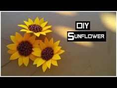 DIY How to Make Felt Sunflower Tutorial - Cara Membuat bunga flanel Easy & Simple - YouTube