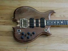 Alembic bass guitar with a Kahler bass tremolo