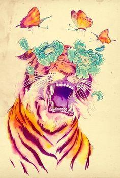 Мy world #tiger #art