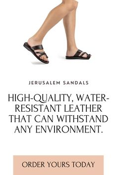 The Good Shephard treads lightly on your path toward peace. These women's toe ring sandals free your feet from unnecessary complications with a simple design and the security of timeless style. Choose these leather slide sandals for handcrafted quality made in Jerusalem by skilled artisans using centuries-old techniques. Brown Leather Sandals, Leather Buckle, Black Sandals, Toe Loop Sandals, Slide Sandals, Natural Tan, Natural Leather, The Good Shepherd, Ankle Strap Flats