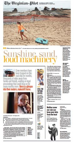 The Virginian-Pilot's front page for Friday, July 5, 2013.