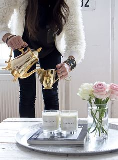 @Claire Notton Your Standard wearing her Blush pieces.  We love her gorgeous home in Berlin!