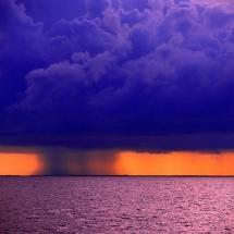 rainstorm over Belize