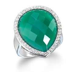 Rhodium Plate Silver Green Onyx Bold Ring *** See this great product. Bold Rings, Green Onyx, Special Gifts, Silver Plate, Jewlery, Bling, Engagement Rings, Crystals, Diamond