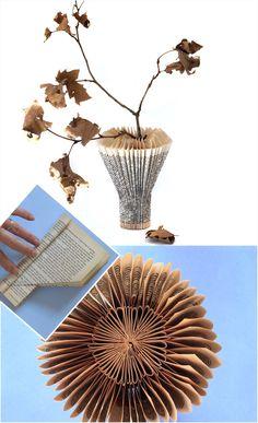 freshly found: Crafted Book Vase DIY