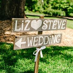 Rustic Wedding Signs Romantic Outdoor Weddings LARGE FONT Hand Painted Reclaimed Wood. Rustic Weddings. Vintage Weddings. Road Signs.