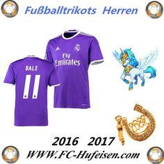 Neue Fussball Trikots Real Madrid Lila (BALE 11) Auswärts Saison 2016 2017 Billig