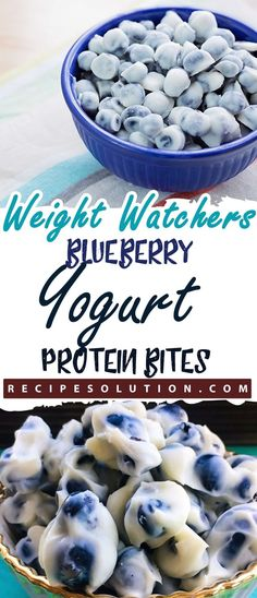 """Blueberry Yogurt Protein Bites- 2 SMARTPOINTS - LOSS MEALS """"No one knows Weight loss meals like we do"""" - With these recipes, it's now easier """"and healthy tastier"""" than ever before to stay on track with your HEALTHY goals. Weight Watcher Desserts, Weight Watchers Snacks, Weigh Watchers, Protein Bites, Protein Snacks, Healthy Snacks, Healthy Recipes, Protein Recipes, Healthy Eats"""