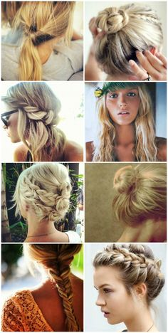 Summer Hairstyles #USFW  #beachy #braids