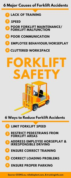 6 Major causes of #forklift accidents