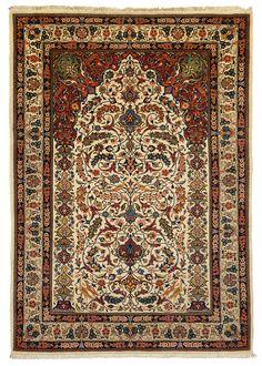 Sarouk - hand knotted iranian carpet - KR 926  Size155 x 106 cm
