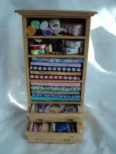 Dolls House Miniatures - Sewing Cupboard