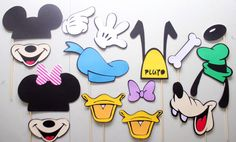 15pc * Mickey and Friends Photo Booth Props/Photobooth Props/Minnie Mouse