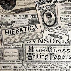 538928fdb82ca 1860-1880 BANANASTRUDEL INGREDIENTS - 10-pc. Calligraphy   Writing   Nibs  Pack. 6x9.5. 09-09 Best Collage Ephemera Pack. Junk Journal