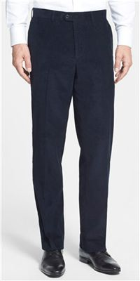 Linea Naturale - Washed Corduroy Relaxed Fit Pants: Corduroy is always a great fabric match with wool sport coats.
