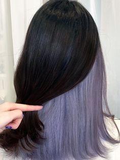 Under Hair Dye, Under Hair Color, Hidden Hair Color, Two Color Hair, Korean Hair Color, Perfect Hair Color, Hair Color Streaks, Hair Dye Colors, Hair Color For Black Hair
