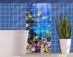 #Fliesenbild Underwater Dreams  #Fliesenbild #Traumurlaub #Bad #Ideen #Wandgestaltung #Badezimmer