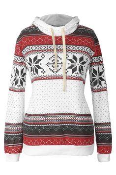 Cupshe Close Encounters Printing Hooded Sweatshirt