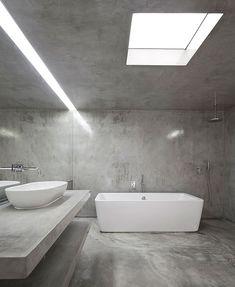 the bathroom /Apartamento minimalista en Lisboa, un proyecto de João Tiago Aguiar