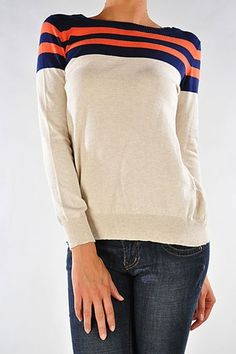 Varsity Stripe Sweater - not typical fan wear, but perfect for the Bears!
