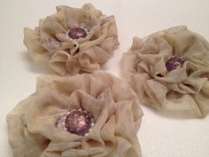 Three Gorgeous Fabric Rosettes for headbands, wrist corsages, hats, or use your imagination! #CraftStuffDepot