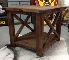 Our Rustic End Table | Do It Yourself Home Projects from Ana White