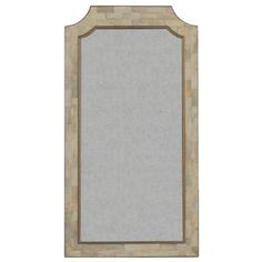Simple elegance is what we had in mind when we designed this large transitional mirror. A beautiful larger-scale mirror that measures 57.75 inches tall, with an inlaid horn frame.  Materials Horn & Mirror  Finish White Horn & Antique Gold