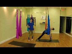 FREE Beginners Aerial Yoga Video w/ Kerry Tice - YouTube