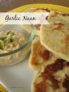 This easy Garlic Naan (Indian Flat Bread) is easy to make and tastes fantastic!  Plus, who doesn't love fresh hot bread (in any variety)?