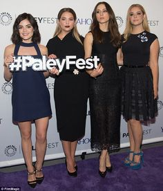 Pretty girls: (L-R) Lucy Hale, Ashley Benson, Troian Bellisario and Sasha Pieterse attende...
