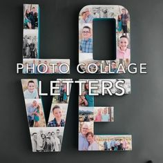 Learn how to make photo collage letters!- Learn how to make photo collage letters! Learn how to make photo collage letters! Diy Photo, Photo Craft, Photo Letters, Diy Letters, Cardboard Letters, Cute Birthday Gift, Diy Birthday, Birthday Presents, Diy Home Crafts