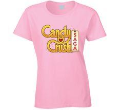 Candy Crush Saga Video Game Logo T Shirt