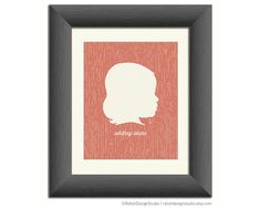 Mother's Day Personalized Silhouette Print, Custom Children's Profile Art