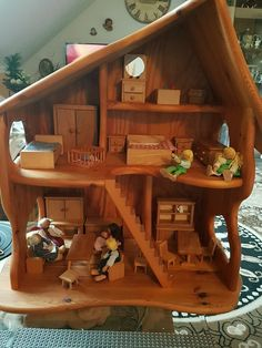 Details about DIY Handmade Architectural Model Wooden Dollhouse Miniature Dolphin . Dollhouse Toys, Wooden Dollhouse, Dollhouse Miniatures, Wooden Dolls House Furniture, Dollhouse Furniture, Wooden House, Wood Furniture, Wooden Crafts, Wooden Diy