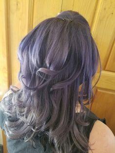 Metallic silver hair by Kirstin at Dolly Quinn salonspa in Tucson Az